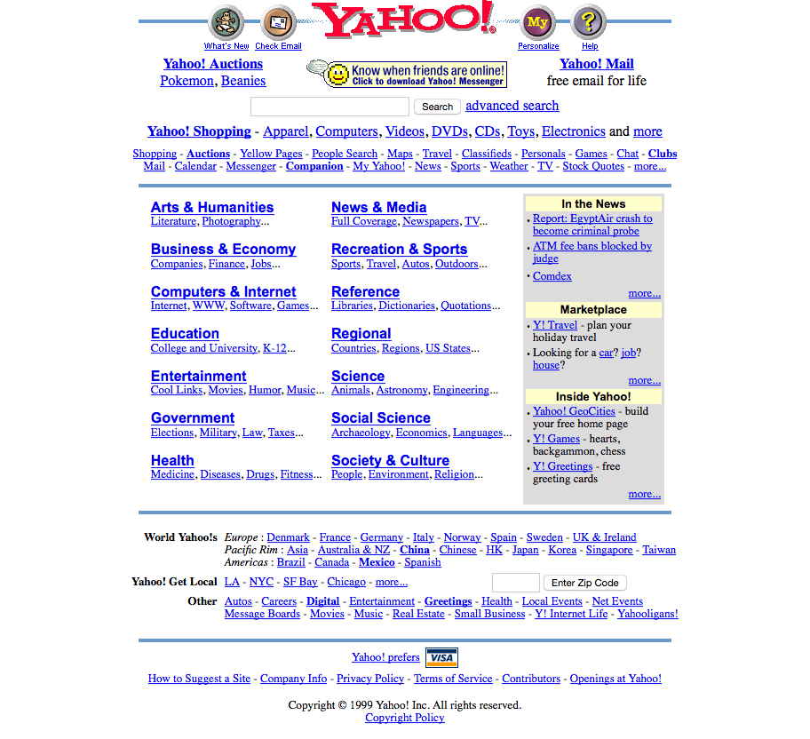 Yahoo! 1999 - Purple Thread Media