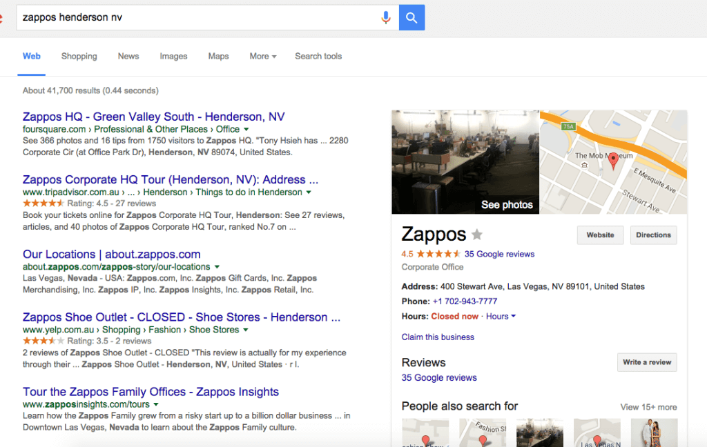 Zappos google places - How To Get 100 Positive Reviews On Google Places