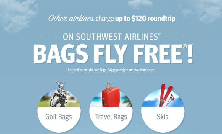 Southwest Airlines Bags Fly Free