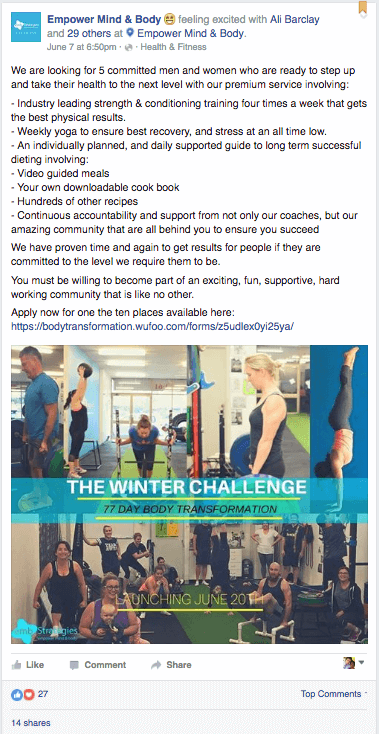 Empower Body Mind - 77 Day Winter Challenge