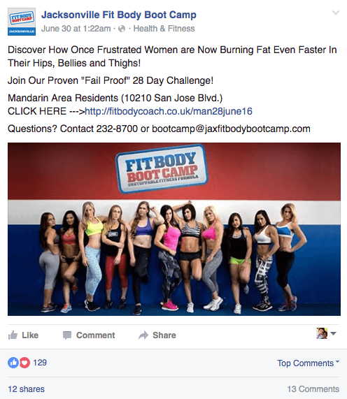 Jacksonville Fit Body Boot Camp - Intro 28 Day Offer