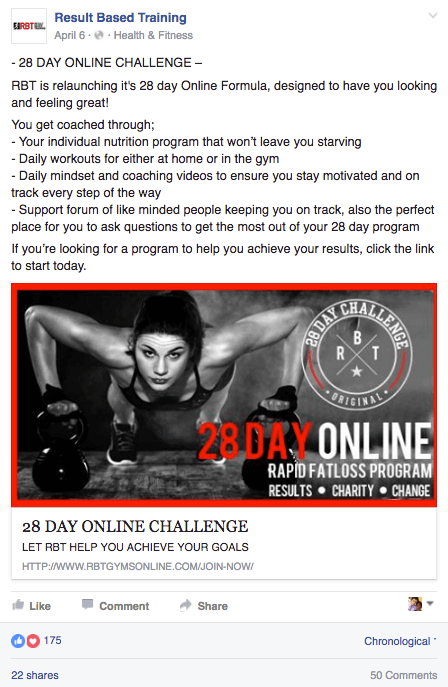 Results Based Training - 28 Day Challenge ONLINE